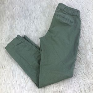 Old Navy Green Pixie Chino Twill Skinny Pants